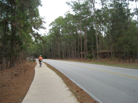 Orlando biking, Florida biking, Disney World, Wilderness Lodge, Ft. Wilderness, FL bike trail